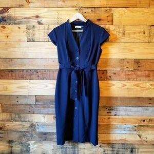 Calvin Kline Dress Beautiful Structured 50's Style